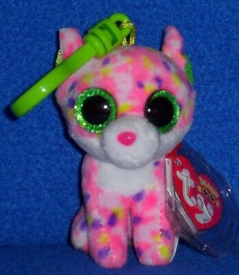 TY TANGERINE the MONKEY KEY CLIP BEANIE BOOS MINT with MINT TAG