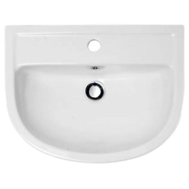CG Vestiaire RAK 550 mm Compact lavage à la main évier Semi Encastré 1th avec-out robinet