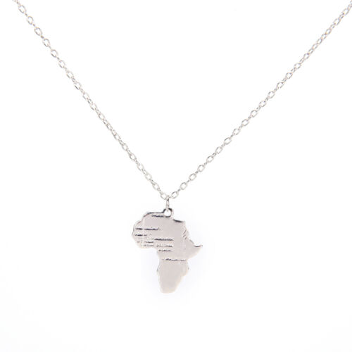 Afrika Karte Anhänger Halskette für Frauen//Männer Silber//Gold Farbe Äthiopisc YJ