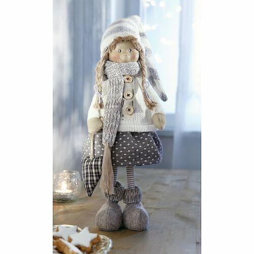 Mädchen Kind Deko Figur Skulptur Dekofigur Weihnachtsdeko Winterkind