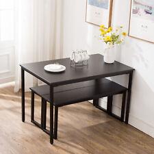 Cool Metropolitan 6 Piece Dining Set With Bench Black For Sale Creativecarmelina Interior Chair Design Creativecarmelinacom