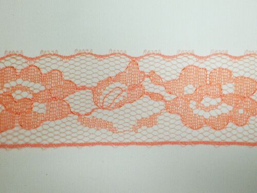 30mm or 3cm width 5 Metre length of single edge pumpkin lace Approx