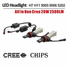 40W 5000LM H10/9005 CREE LED Headlight Kit Replace HID Bulb Jeep Fog Lamp 6000K