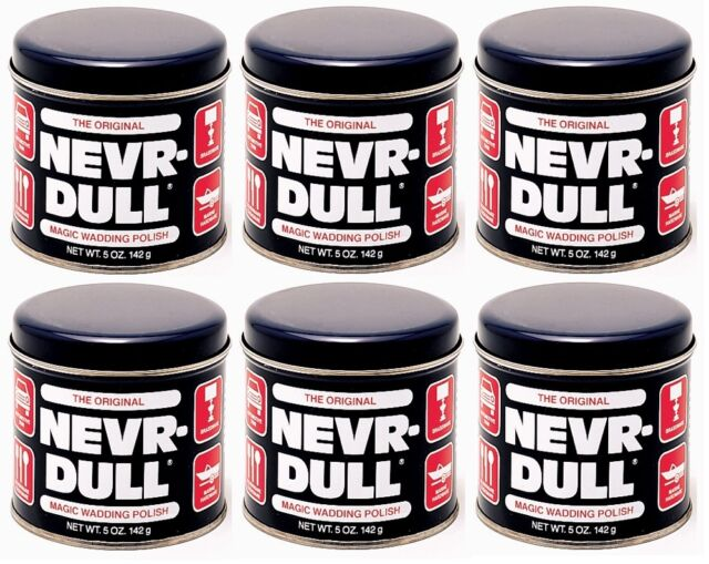 (6 Pack) The Original (Never) Nevr-Dull Magic Wadding Polish  NEW!