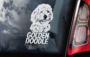 Goldendoodle-On-Board-Auto-Adesivo-per-Finestre-Dorato-Doodle-Cane-Firmare