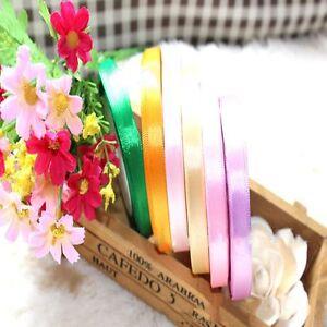 Party-Single-5-8-Sewing-Bow-3-8-034-Yards-Handicraft-Ribbon-Wedding-Satin