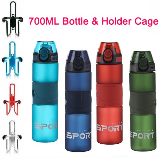 700ml Outdoor Sport Water Drink Bottle and Bottles Holder Rack Cage Bracket