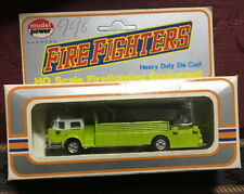 MADE IN HK MODEL POWER HO LADDER//BUCKET RED WITH WHITE CAB TOP FIRE TRUCK MIB