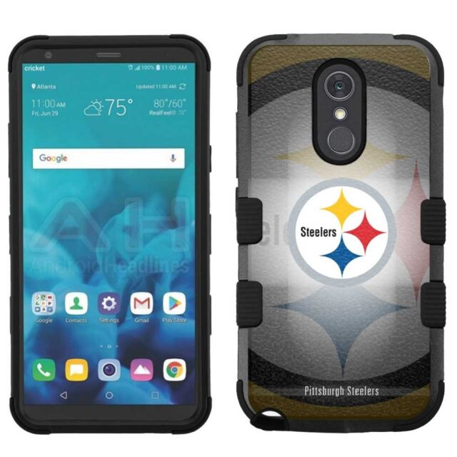 new concept 1ed77 bb7f4 for LG Stylo 4 Armor Impact Hybrid Cover Case Pittsburgh Steelers #r