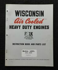 Wisconsin Aenl Aen Aens Heavy Duty Air Cooled Engines Operators Amp Parts Manual