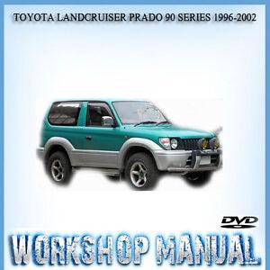 toyota landcruiser prado 90 series 1996 2002 workshop repair manual rh ebay com au Toyota Land Cruiser FJ40 Toyota Land Cruiser FJ40