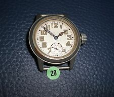 29)⌚ WALTHAM 40er Vintage Military Watch WW II WK 2 US Army Parts Case Mouvement