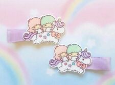 New Kawaii Little Twin Stars Cute Anime Hair Clip Hair Bow Fairy Kei Unicorn