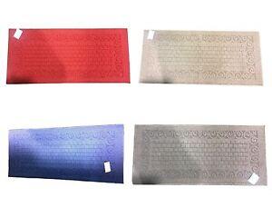 New Anti-Slip Bath Mat Carpet Rug  Runner Rubber Latex Backing 50x110cm