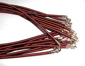 Seidenkette-3-mm-Stoff-Seide-Kette-2-Farben-mit-Silber-Verschluss-41-cm-kurz-Neu