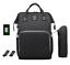 Sac-a-Dos-a-Langer-Bebe-Maman-Maternite-Sac-a-Main-Baby-USB-Hook-Bottle-Bag miniatuur 4
