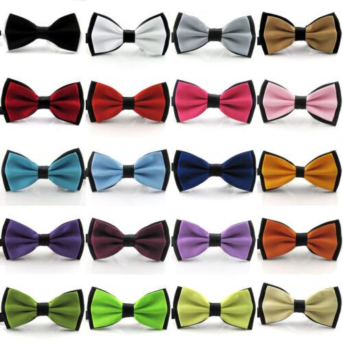 Men/'s Fashion Tuxedo Silk Satin Assorted Color Adjustable Wedding Bowtie Bow Tie