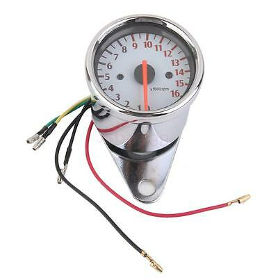 Universal 12V Motorcycle Tachometer 0-16000RPM Tacho RPM Gauge For Honda New