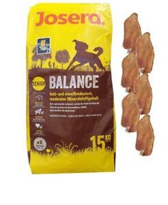 15 kg de nourriture pour chien Josera Balance 6 x oreilles de lapin