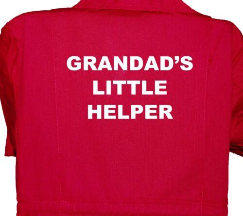Overall 1-8yr Bo Childrens Kids Grandad/'s Little Helper Boilersuit Coverall