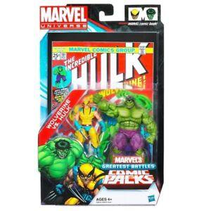 Marvel Universe ~ Ensemble de figurines d'action Wolverine Vs Hulk - Les plus grandes batailles # 181