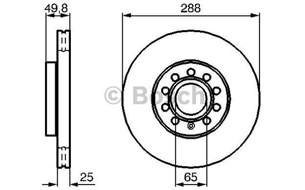 BOSCH Juego de 2 discos freno Antes 288mm ventilado SEAT RENAULT 0 986 479 088