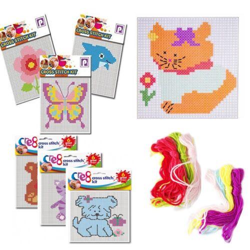 Fun cross stitch per principianti Craft Pack Cuciture Lana Lavoro A Maglia Learning Kit