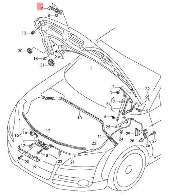 Buy Genuine Catch Hook Audi Tt Coupe Roadster Ttrs 8j3 8j9