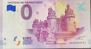 BILLET-0-EURO-CHATEAU-DE-PIERREFONDS-FRANCE-2018-NUMERO-101
