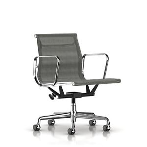 Image Is Loading Authentic Herman Miller Eames Aluminum Group Management  Chair