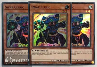 Swap Cleric Super Rare 1st Edition NEW YuGiOh 3 x FIGA-EN036