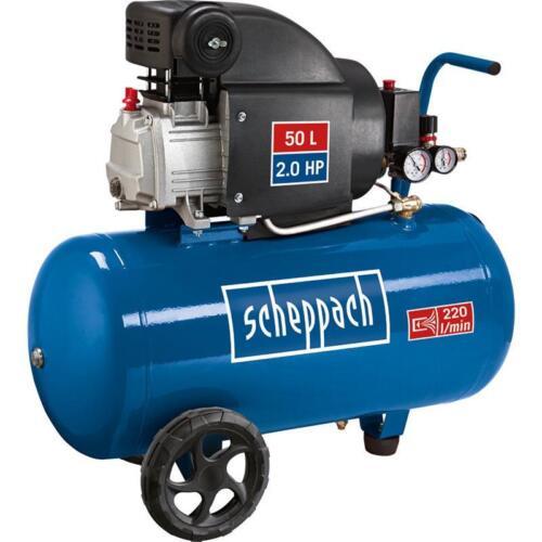 Scheppach Druckluft Kompressor 50L Luftkompressor 8bar 2PS ölgeschmiert HC54