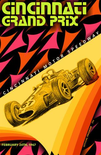 "Cincinnati 24/""x36/"" Canvas Racing Poster Ohio"