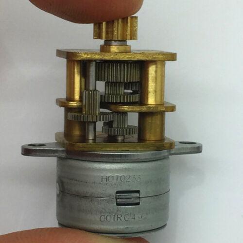DC 5V 12V 2-phase 4-wire 15mm Mini Precision Full Metal Gear Stepper Motor Robot
