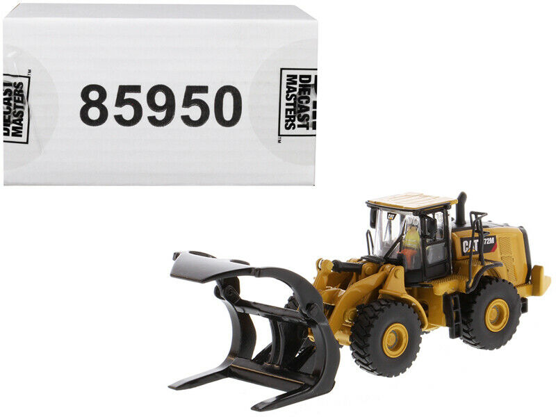 CAT Caterpillar 972M Wheel Loader with Log Fork and Operator  High Line  Series