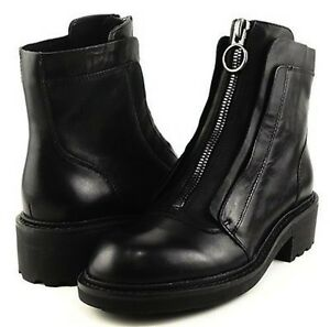 ASH Space Black Zip Up Ankle Boots Leather Sz US 7 IT 37 $275 NEW ...