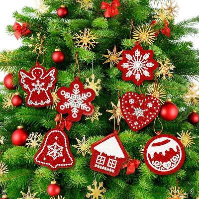 10pcs DIY Weihnachtsbaum 5D Diamond Painting Diamant Kreuzstich Anhänger Dekor