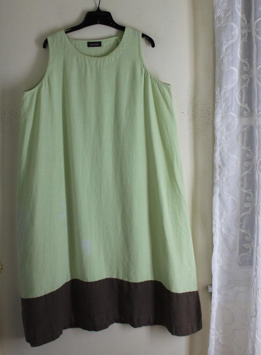 Eskandar -Sz 2 Grün braun A-Line Full Dress with Issues - Garden, Play, Project