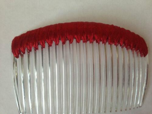 DIY hair accessories Satin Hair comb for fascinator base