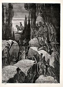 Vintage-print-circa-1870-Adventures-of-Baron-Munchausen-by-Gustave-Dore