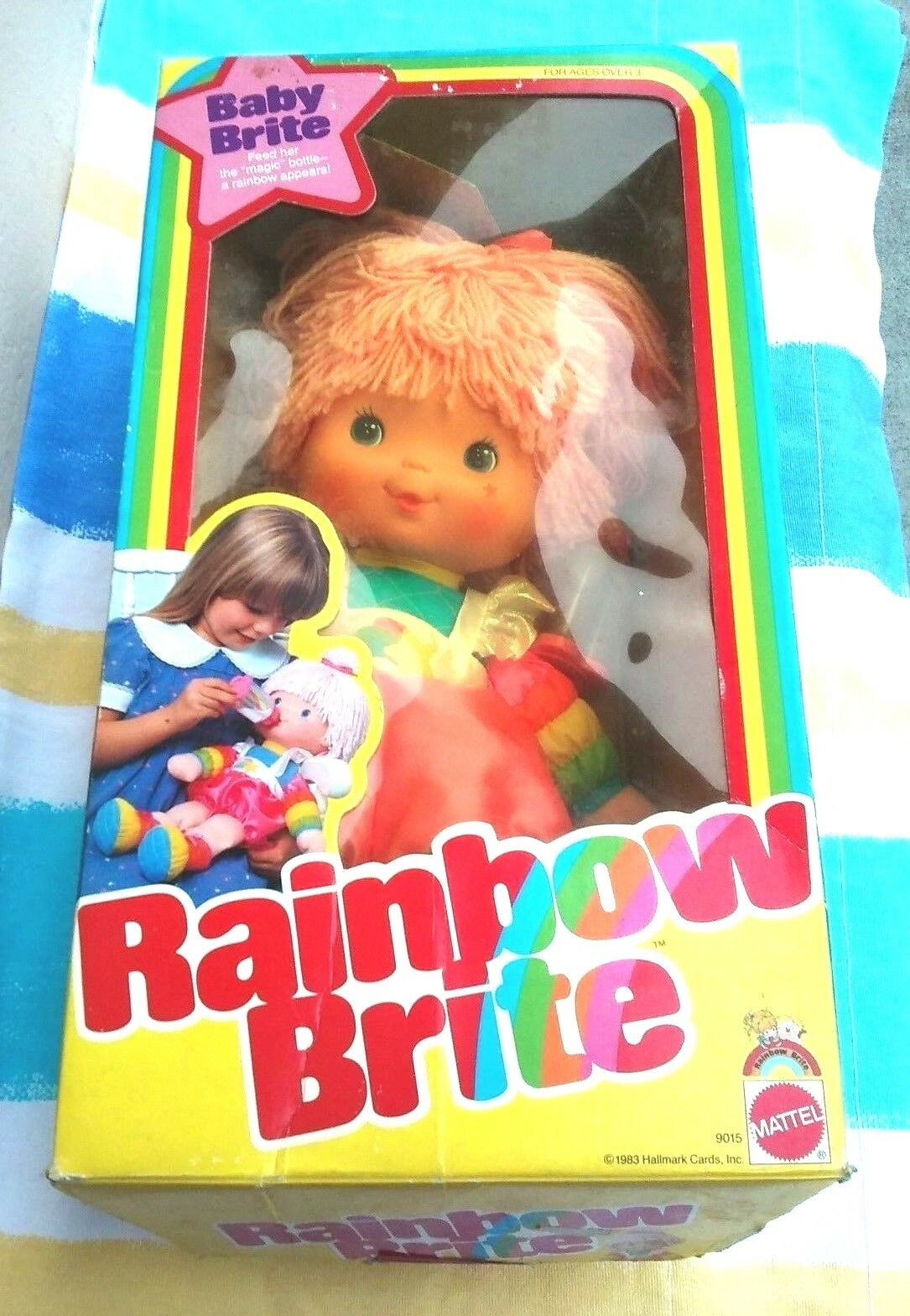 1983 Mattel Muñeca Bebé Brite Arcoiris recogidos Wbottle 19 Pulgadas De Alto Nuevo En Caja