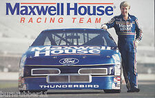 "1991 STERLING MARLIN ""MAXWELL HOUSE"" #22 NASCAR WINSTON CUP POSTCARD"