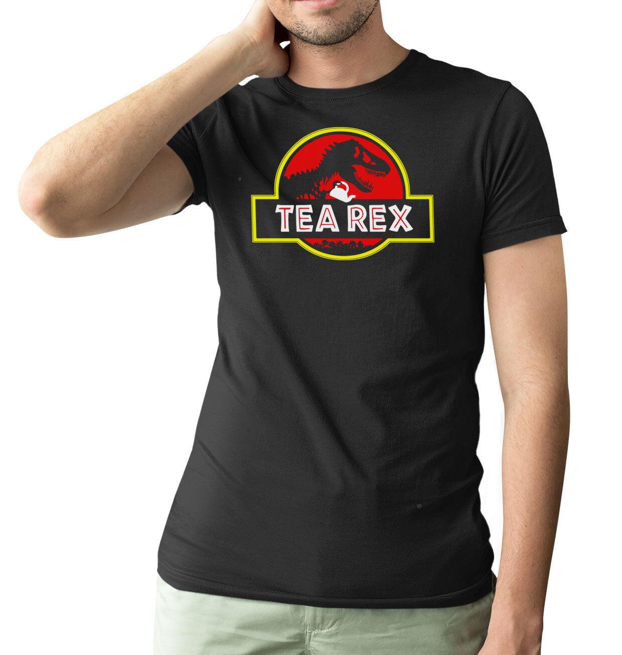 New Mens Jurassic Park Classic Logo Short Sleeve Black T-Shirt XL Sizes Tee M