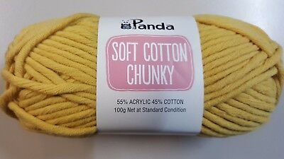 Panda Soft Cotton Chunky #6 Amber Mustard Cotton / Acrylic 100g