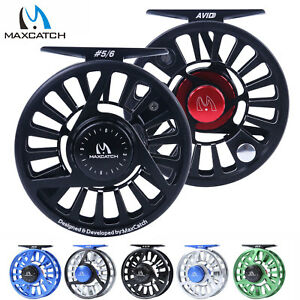 Maxcatch-AVID-Reel-1-3-3-4-5-6-7-8-9-10WT-CNC-Machined-Aluminum-Fly-Fishing-Reel