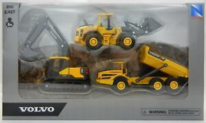 3pc-SET-1-64-VOLVO-Model-EC140-EXCAVATOR-A25G-Dump-Truck-L60H-Wheel-Loader