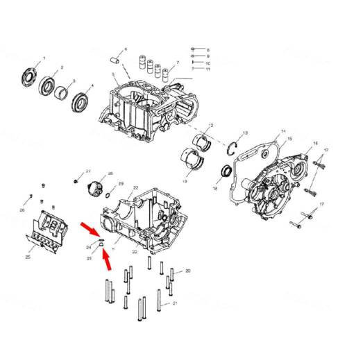 UTV 7052306 Engine Magnetic Oil Drain Plug For Polaris RZR Sportsman Ranger ATV