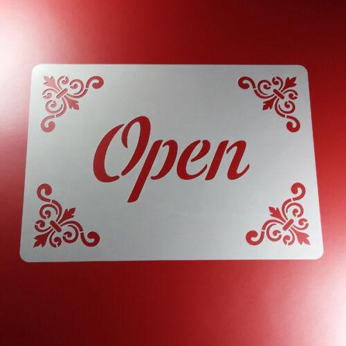 A4 Schablone Open Schriftzug Ornament Rahmen Frame BS431