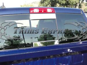 fits-2002-2008-Dodge-Ram-2Pc-Rear-Window-Tailgate-Trim-Molding-Sliding-Flat