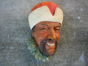 Bossons-head-Chalkware-Congleton-England-Manchurian-Persian-item-1